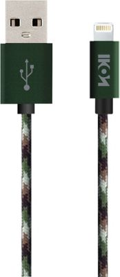IKON iPhone MFi Lightning Paracord Cable with Aluminum Alloy Tip - 6.6 Feet Camouflage - IKON Electronic Accessories