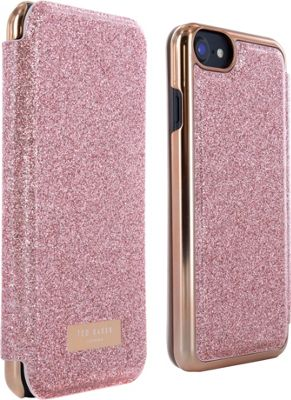 Ted Baker iPhone 6 & 7 Mirror Folio Case Glitsie Rose Gold - Ted Baker Electronic Cases