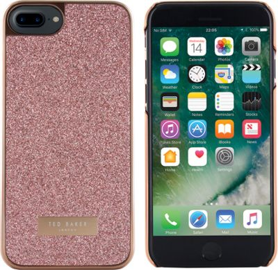 Ted Baker iPhone 6 & 7 Plus Glitter Hard Shell Case Rico Rose Gold - Ted Baker Electronic Cases