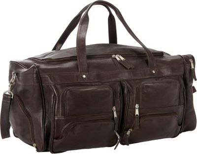 Petersons Club Leather Duffel Brown - Petersons Travel Duffels