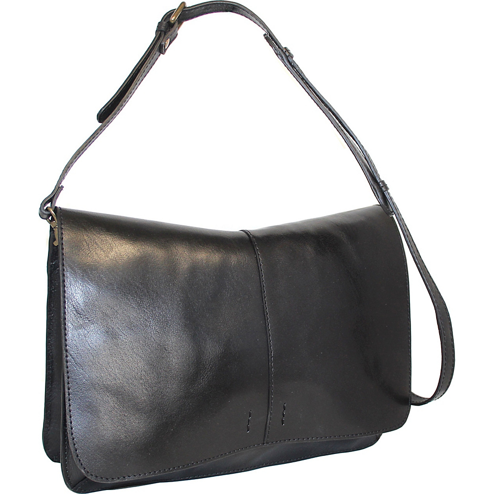 Nino Bossi Peyton Shoulder Bag Black - Nino Bossi Leather Handbags