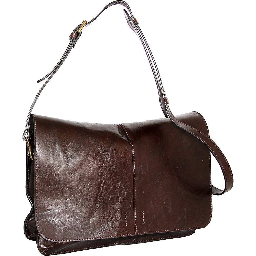 Nino Bossi Peyton Shoulder Bag Chocolate - Nino Bossi Leather Handbags