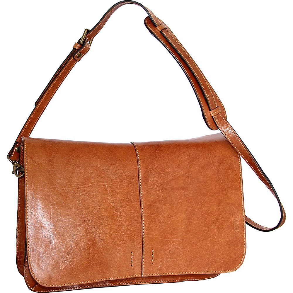 Nino Bossi Peyton Shoulder Bag Cognac - Nino Bossi Leather Handbags