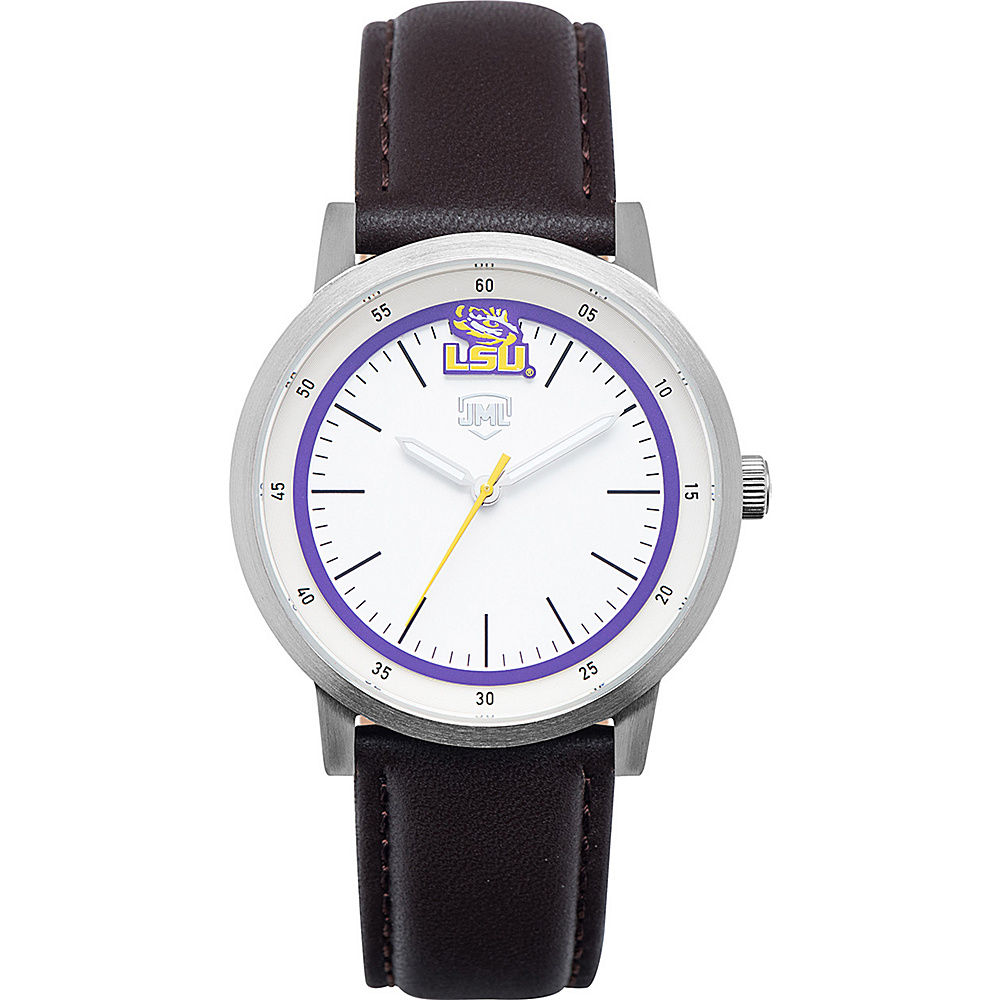 Jack Mason League NCAA Leather Strap Watch LSU - Jack Mason League Watches - Fashion Accessories, Watches