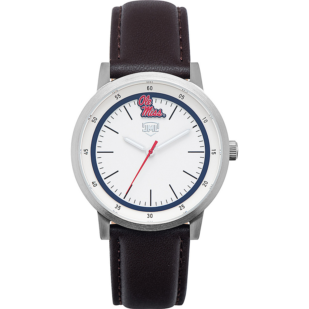 Jack Mason League NCAA Leather Strap Watch Ole Miss - Jack Mason League Watches - Fashion Accessories, Watches