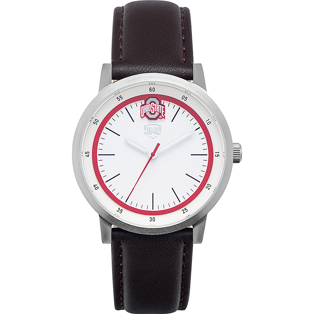 Jack Mason League NCAA Leather Strap Watch Ohio State - Jack Mason League Watches - Fashion Accessories, Watches