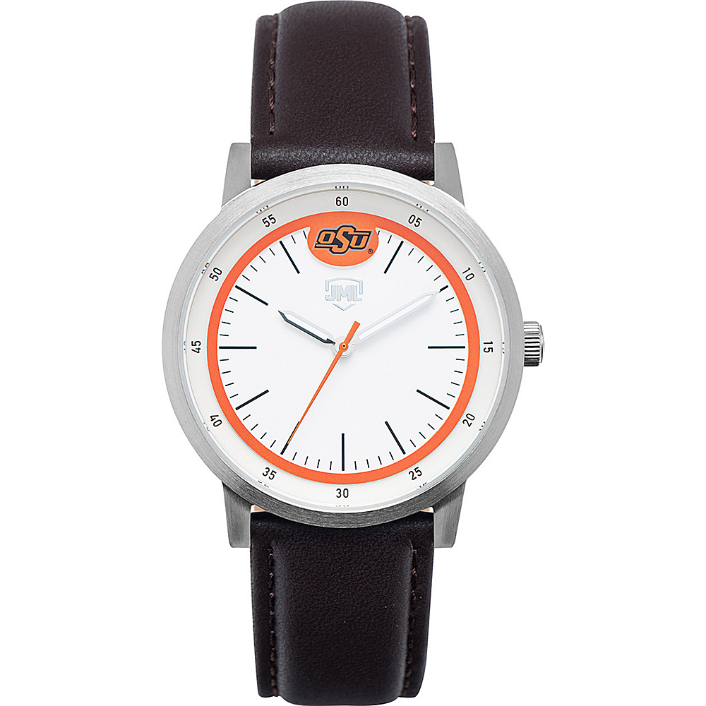 Jack Mason League NCAA Leather Strap Watch Oklahoma State - Jack Mason League Watches - Fashion Accessories, Watches