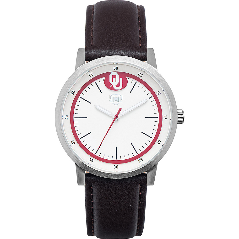 Jack Mason League NCAA Leather Strap Watch Oklahoma - Jack Mason League Watches - Fashion Accessories, Watches