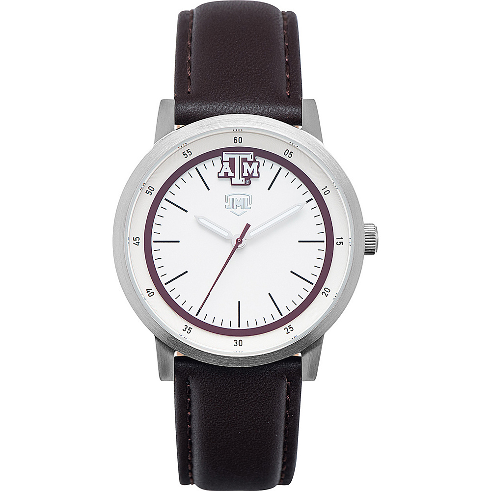 Jack Mason League NCAA Leather Strap Watch Texas A&M - Jack Mason League Watches - Fashion Accessories, Watches