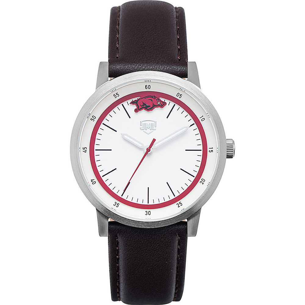 Jack Mason League NCAA Leather Strap Watch Arkansas - Jack Mason League Watches - Fashion Accessories, Watches