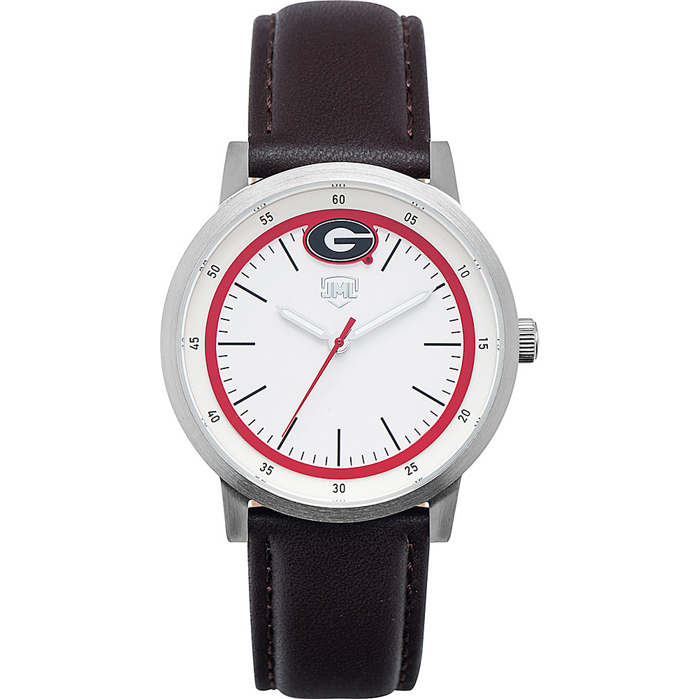 Jack Mason League NCAA Leather Strap Watch Georgia - Jack Mason League Watches - Fashion Accessories, Watches
