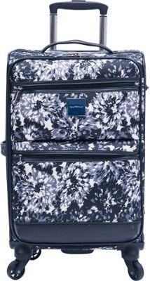 Isaac Mizrahi Boldon 22 inch Carry-On Spinner Luggage Black/White - Isaac Mizrahi Softside Carry-On