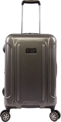 Original Penguin Luggage Crest 21 inch Expandable Hardside Carry-On Spinner Luggage Charcoal - Original Penguin Luggage Hardside Carry-On