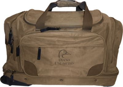 Ducks Unlimited 26 inch Rolling Checked Upright Luggage Taupe - Ducks Unlimited Rolling Duffels