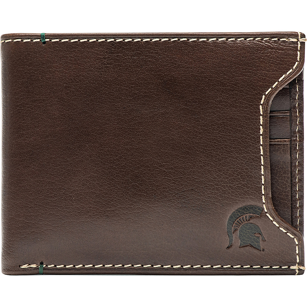 Jack Mason League NCAA Alumni Sliding 2 in 1 Wallet Michigan State - Jack Mason League Mens Wallets - Work Bags & Briefcases, Men's Wallets