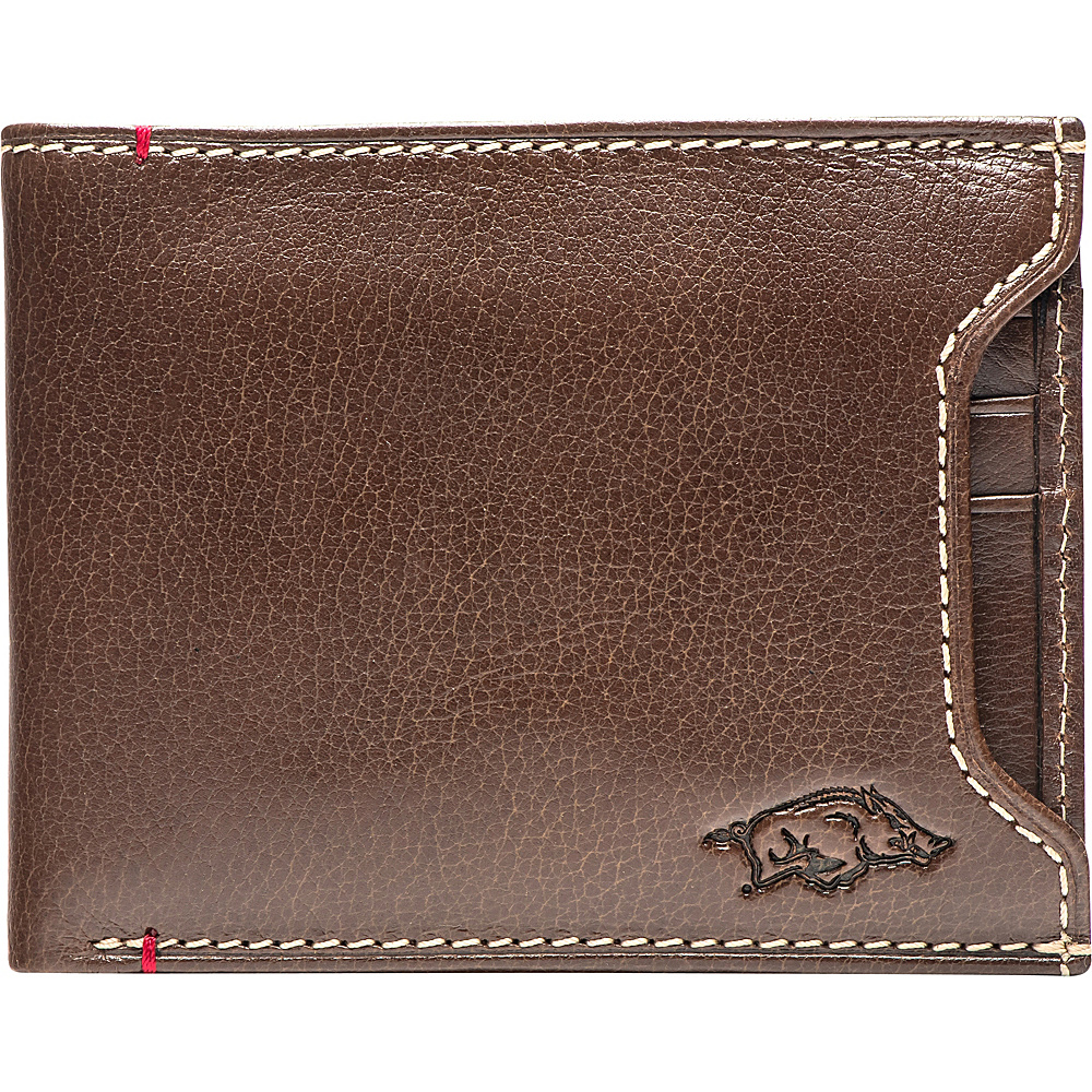 Jack Mason League NCAA Alumni Sliding 2 in 1 Wallet Arkansas - Jack Mason League Mens Wallets - Work Bags & Briefcases, Men's Wallets