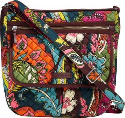 Vera Bradley Iconic Mailbag Autumn Leaves - Vera Bradley Fabric Handbags