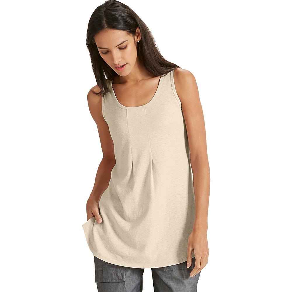 NAU Clothing Womens Kanab Tank S - Bone Heather - NAU Clothing Womens Apparel - Apparel & Footwear, Women's Apparel