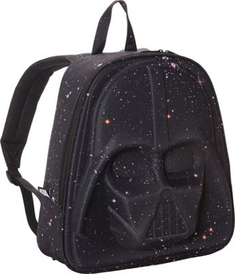 Loungefly Galaxy Print Darth Vader 3D Molded Laptop Backpack Black/Pink - Loungefly Laptop Backpacks