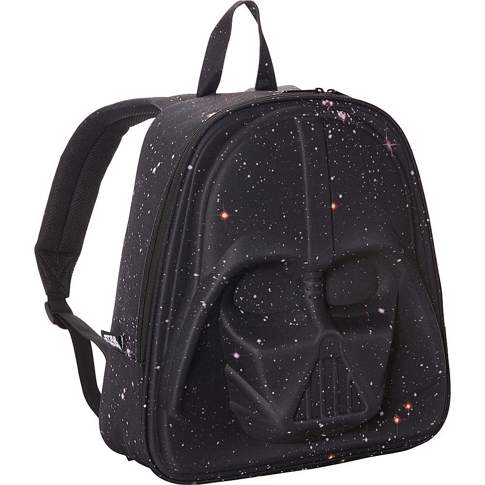 Loungefly Galaxy Print Darth Vader 3D Molded Laptop Backpack Black/Pink - Loungefly Laptop Backpacks
