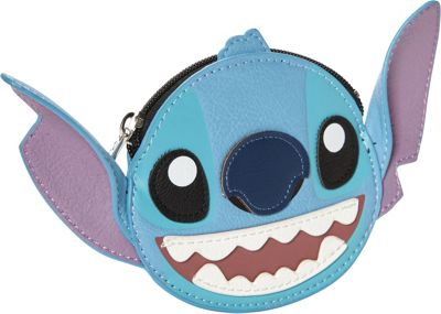 Loungefly Stitch Big Face 3D Ears Coin Bag Blue - Loungefly Women's Wallets