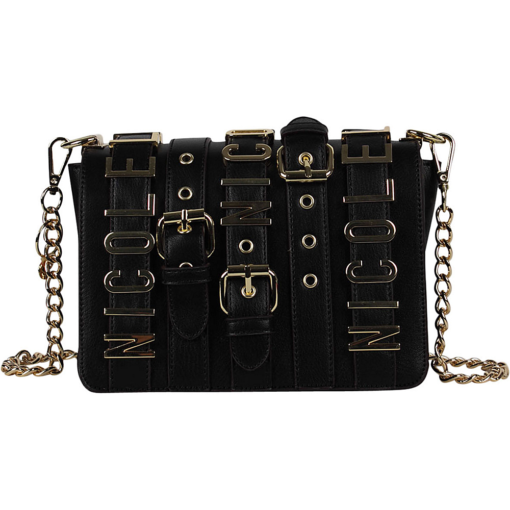Nicole Lee Hilliard Belt Embellish Mini Chain Crossbody Black - Nicole Lee  Manmade Handbags - Handbags 01e47d3592fbb