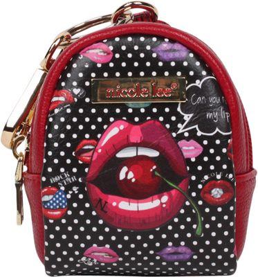 Nicole Lee Keychain Mini Backpack Charm Read My Lip - Nicole Lee Women's Wallets