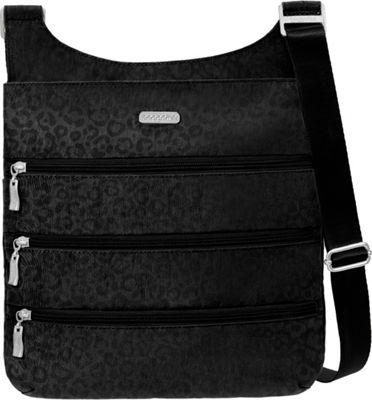 baggallini Big Zipper Bagg with RFID - Retired Colors Black Cheetah Emboss - baggallini Fabric Handbags