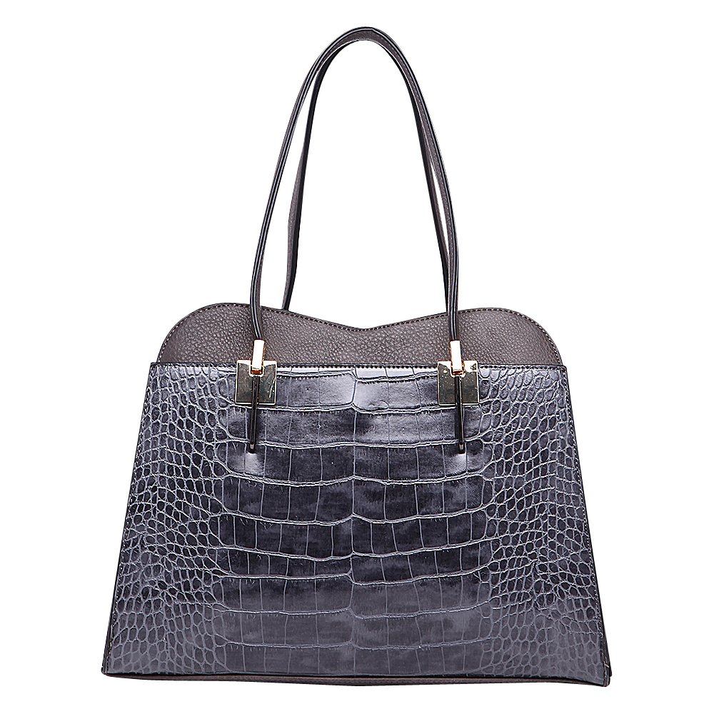 MKF Collection by Mia K. Farrow Envelope Shoulder Bag Dark Grey - MKF Collection by Mia K. Farrow Gym Bags - Sports, Gym Bags