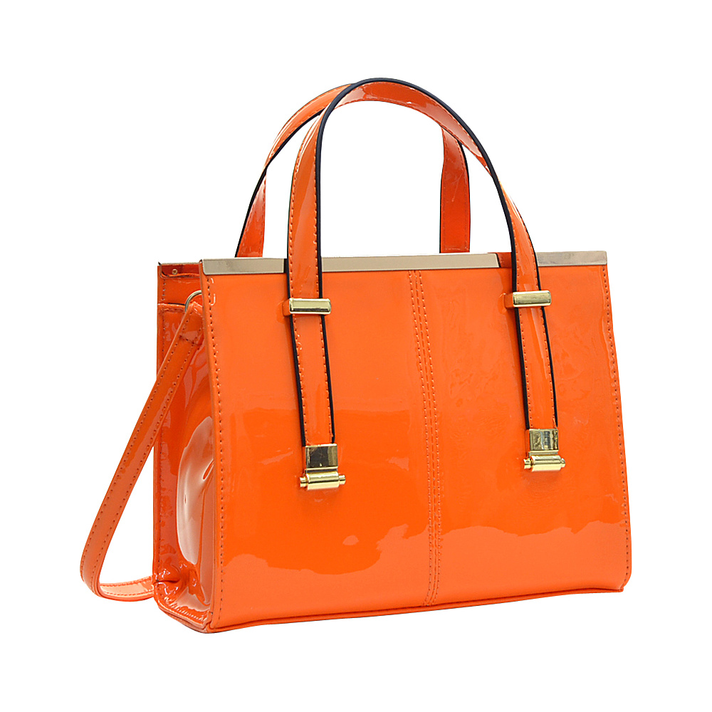Dasein Gathered Top Tote Satchel Orange - Dasein Manmade Handbags - Handbags, Manmade Handbags