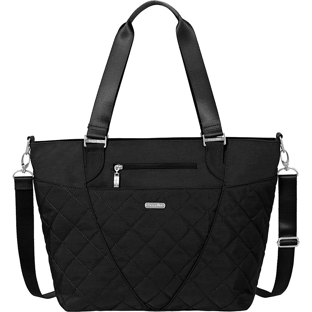 baggallini Quilted Avenue Tote with RFID Black Quilt - baggallini Fabric Handbags - Handbags, Fabric Handbags