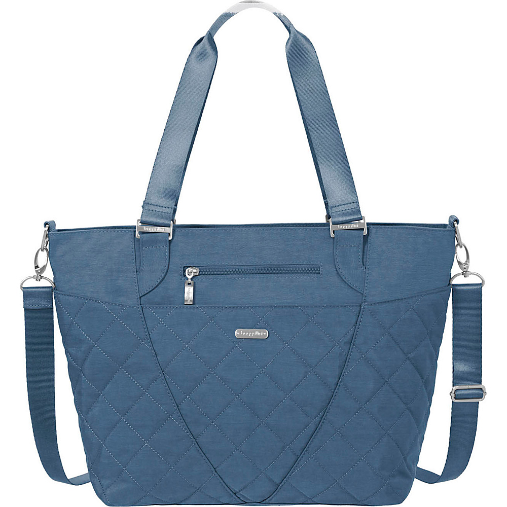 baggallini Quilted Avenue Tote with RFID Slate Quilt - baggallini Fabric Handbags - Handbags, Fabric Handbags