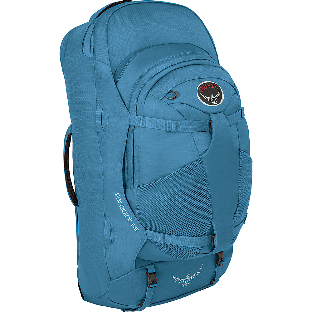 Osprey Farpoint 55 Backpack- Discontinued Color Caribbean Blue - S/M - Osprey Day Hiking Backpacks - Outdoor, Day Hiking Backpacks