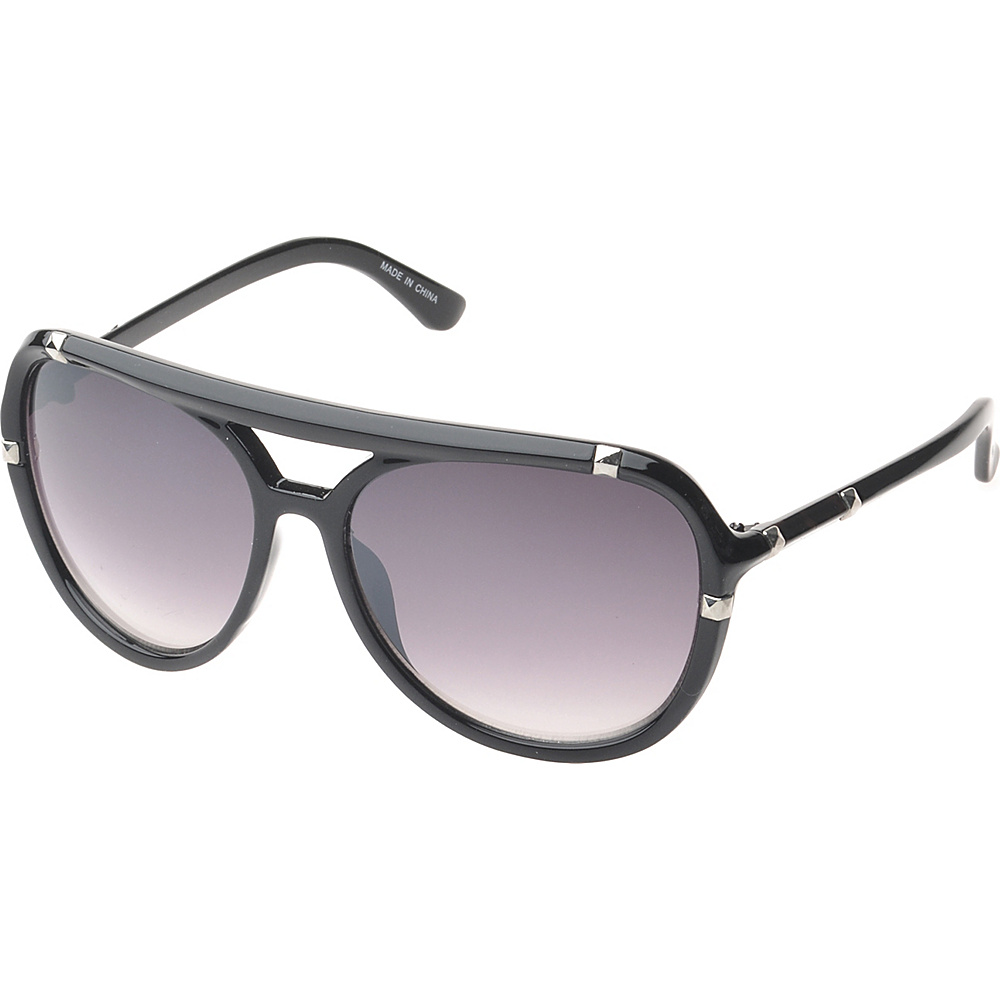 SW Global Bayville Double Bridge Aviator Fashion Sunglasses Black - SW Global Eyewear - Fashion Accessories, Eyewear
