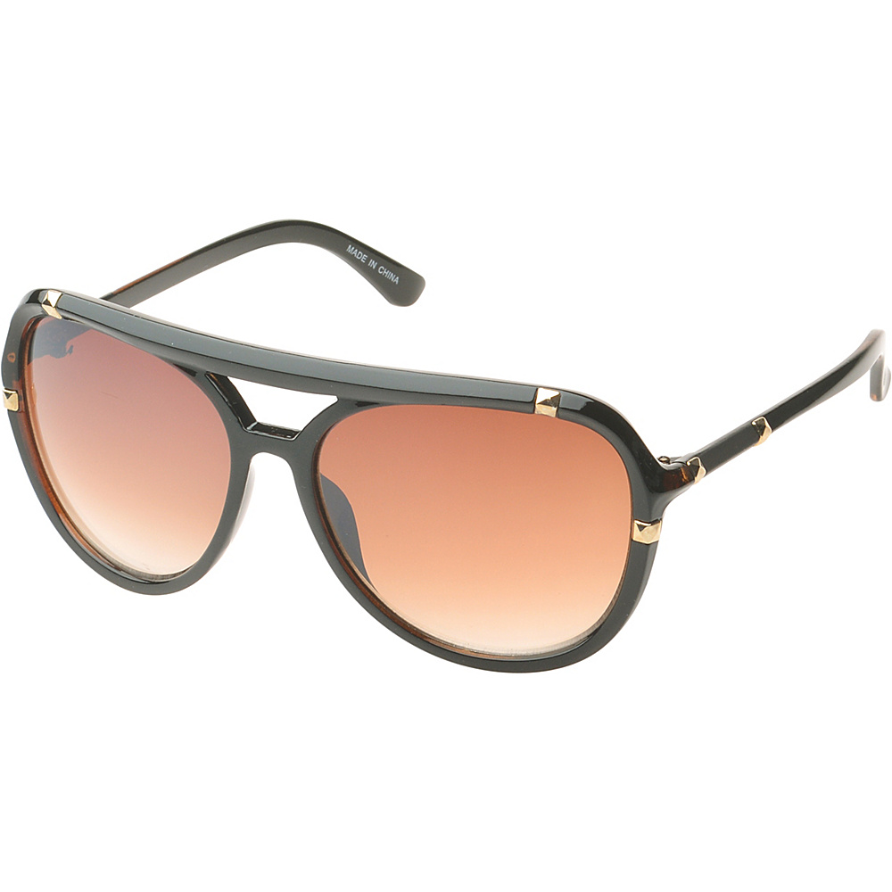 SW Global Bayville Double Bridge Aviator Fashion Sunglasses Brown - SW Global Eyewear - Fashion Accessories, Eyewear