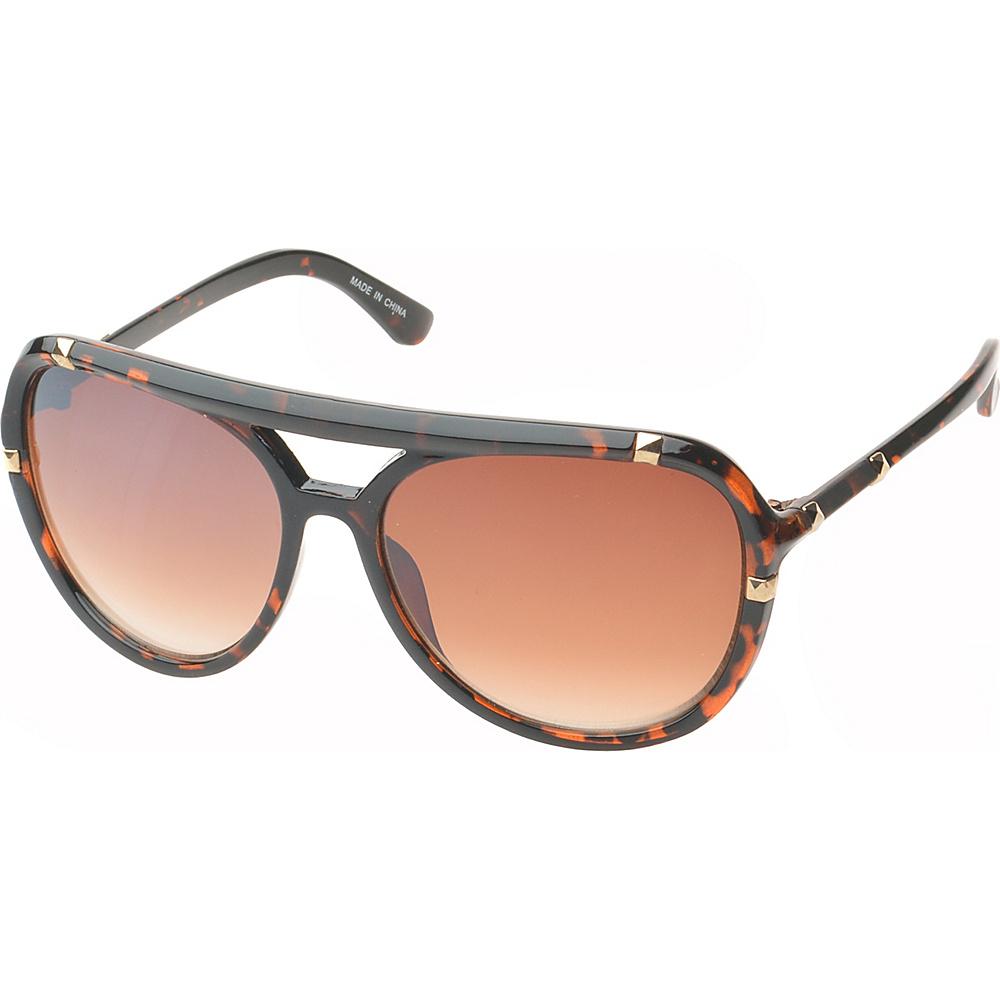 SW Global Bayville Double Bridge Aviator Fashion Sunglasses Dark-Leopard - SW Global Eyewear - Fashion Accessories, Eyewear