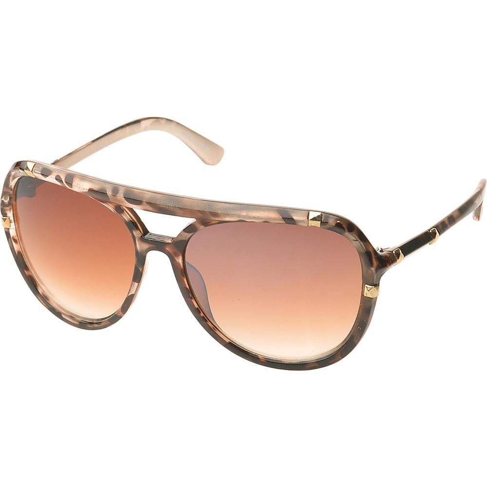 SW Global Bayville Double Bridge Aviator Fashion Sunglasses Light-Leopard - SW Global Eyewear - Fashion Accessories, Eyewear