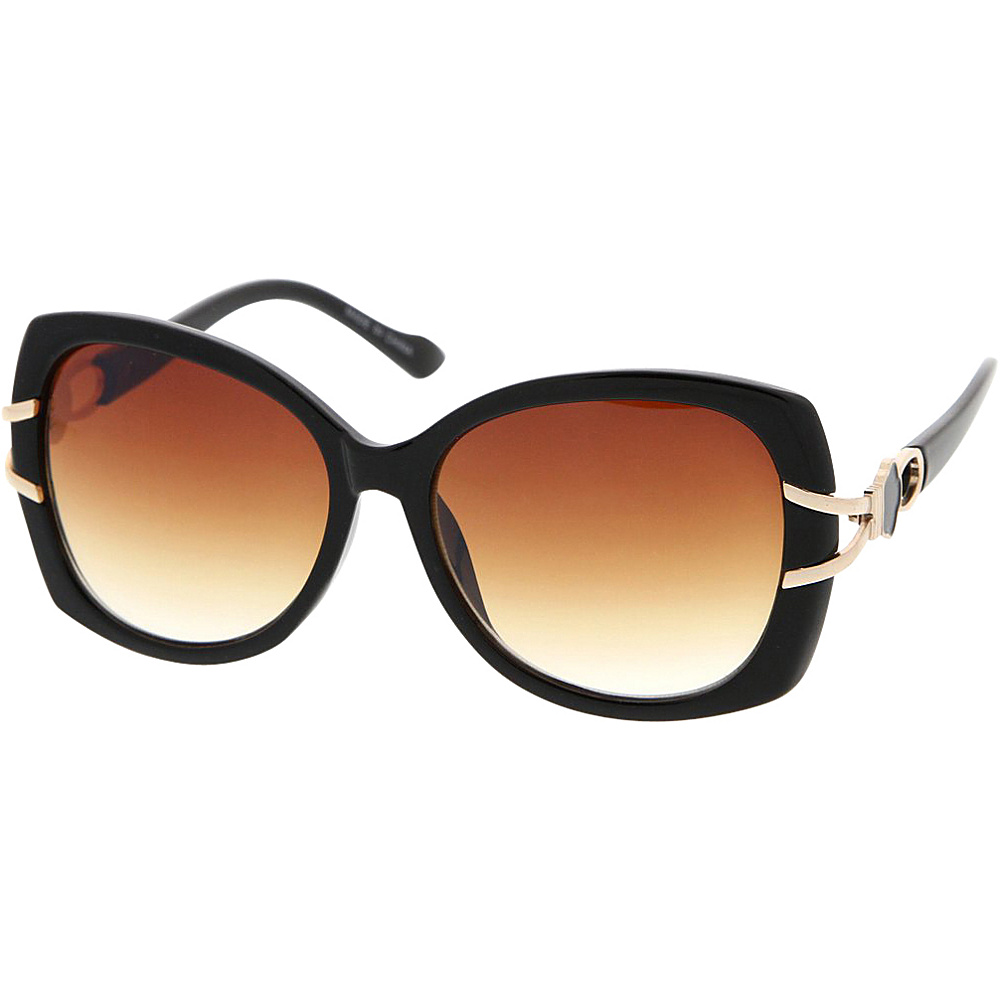 SW Global Womens Vintage Fashion Oversize Butterfly Frame Sunglasses Gold - SW Global Eyewear - Fashion Accessories, Eyewear
