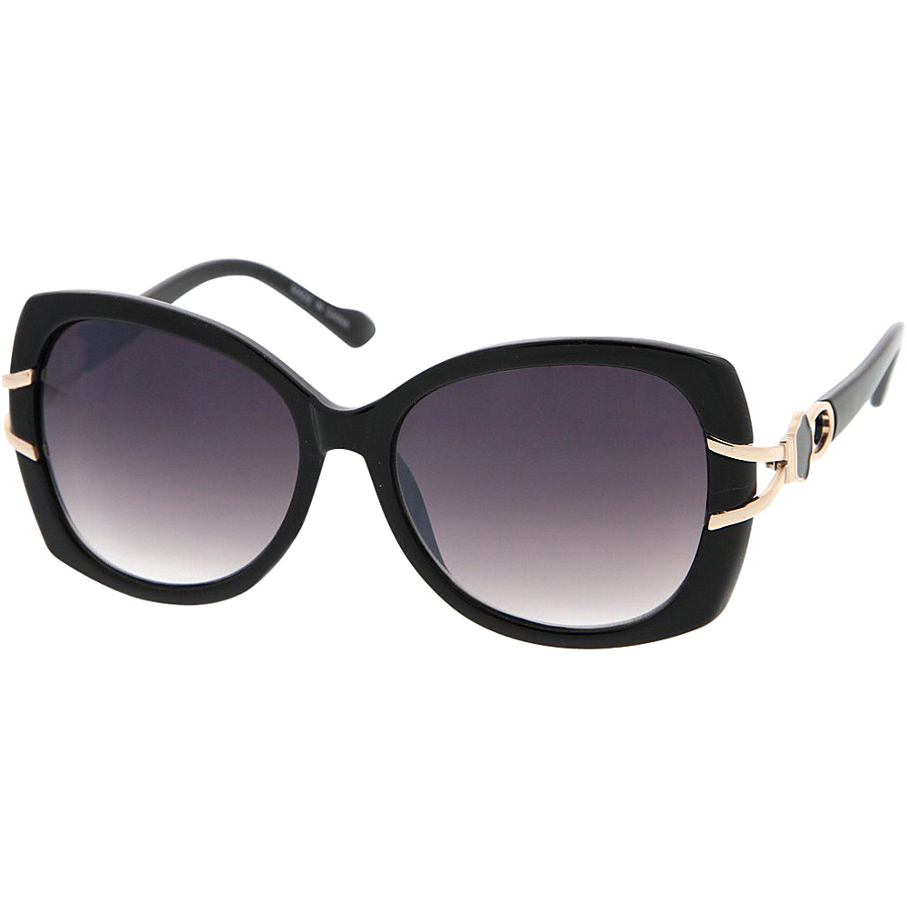 SW Global Womens Vintage Fashion Oversize Butterfly Frame Sunglasses Black - SW Global Eyewear - Fashion Accessories, Eyewear