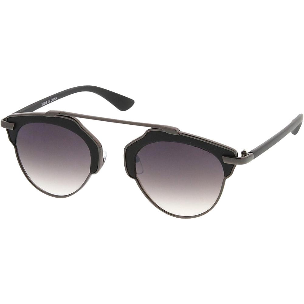 SW Global Womens Retro Fashion Dapper Frame Brow Bar Sunglasses Black - SW Global Eyewear - Fashion Accessories, Eyewear