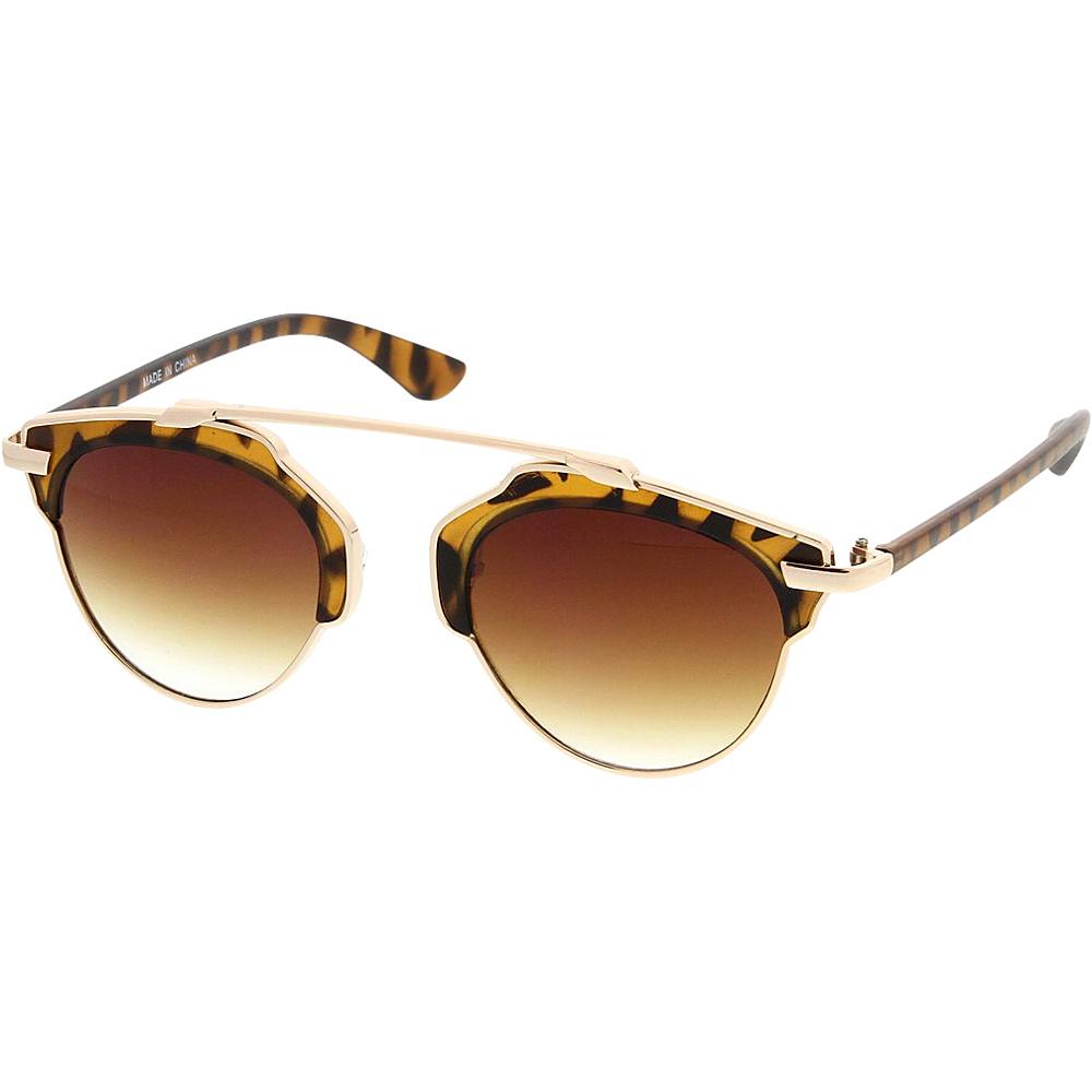 SW Global Womens Retro Fashion Dapper Frame Brow Bar Sunglasses Brown - SW Global Eyewear - Fashion Accessories, Eyewear