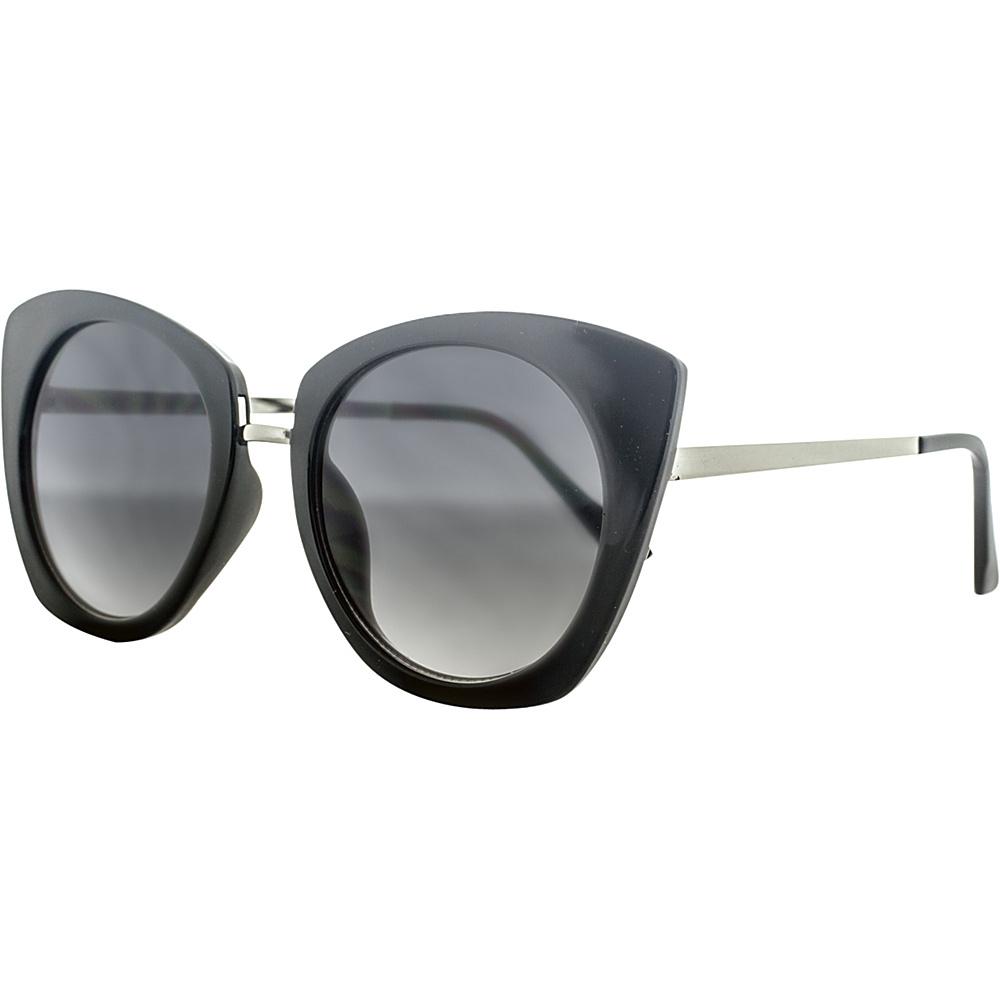 SW Global Urban Metal Crossbar Aviator UV400 Sunglasses Black Silver - SW Global Eyewear - Fashion Accessories, Eyewear