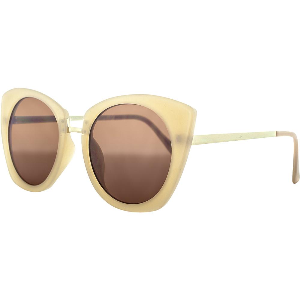 SW Global Urban Metal Crossbar Aviator UV400 Sunglasses Brown Gold - SW Global Eyewear - Fashion Accessories, Eyewear