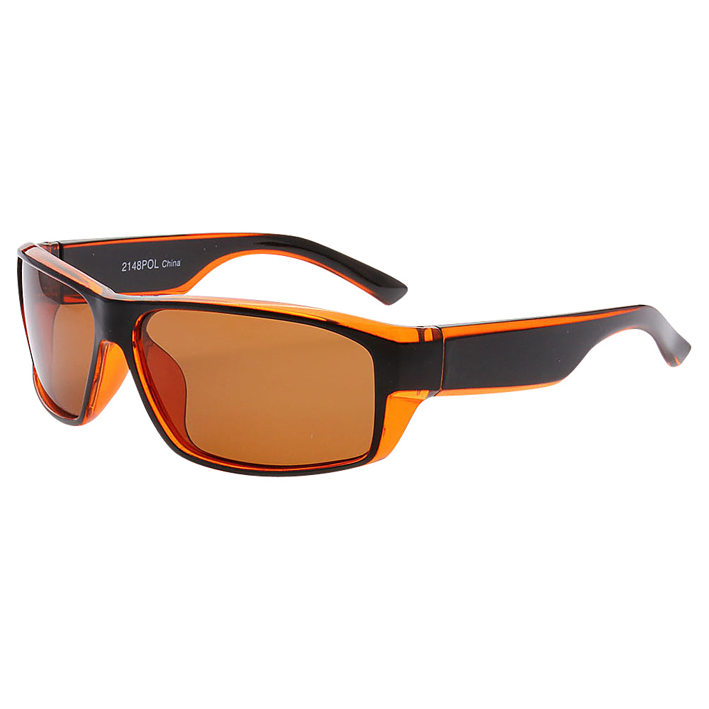 SW Global Outdoors Sports Full Square Framed UV400 Sunglasses Orange Brown - SW Global Eyewear - Fashion Accessories, Eyewear