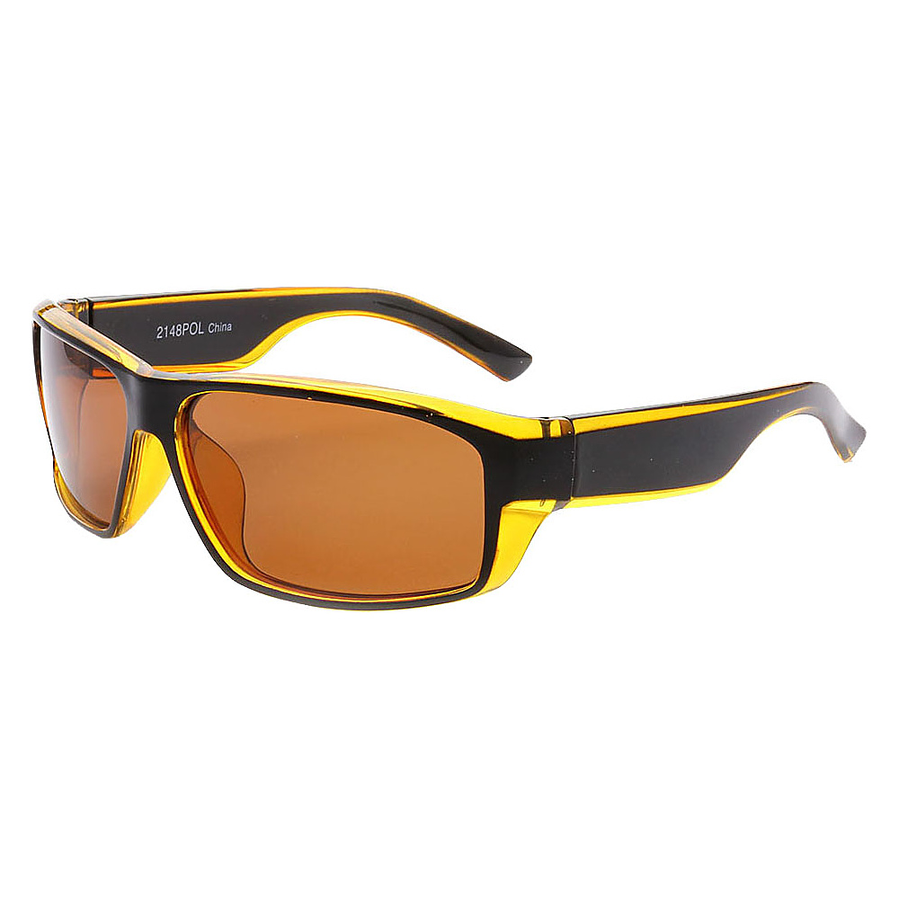 SW Global Outdoors Sports Full Square Framed UV400 Sunglasses Yellow Brown - SW Global Eyewear - Fashion Accessories, Eyewear