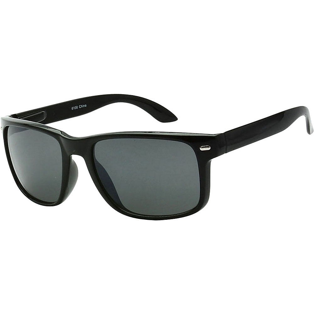 SW Global Sporty Rectangular Frame Sunglasses Black - SW Global Eyewear - Fashion Accessories, Eyewear