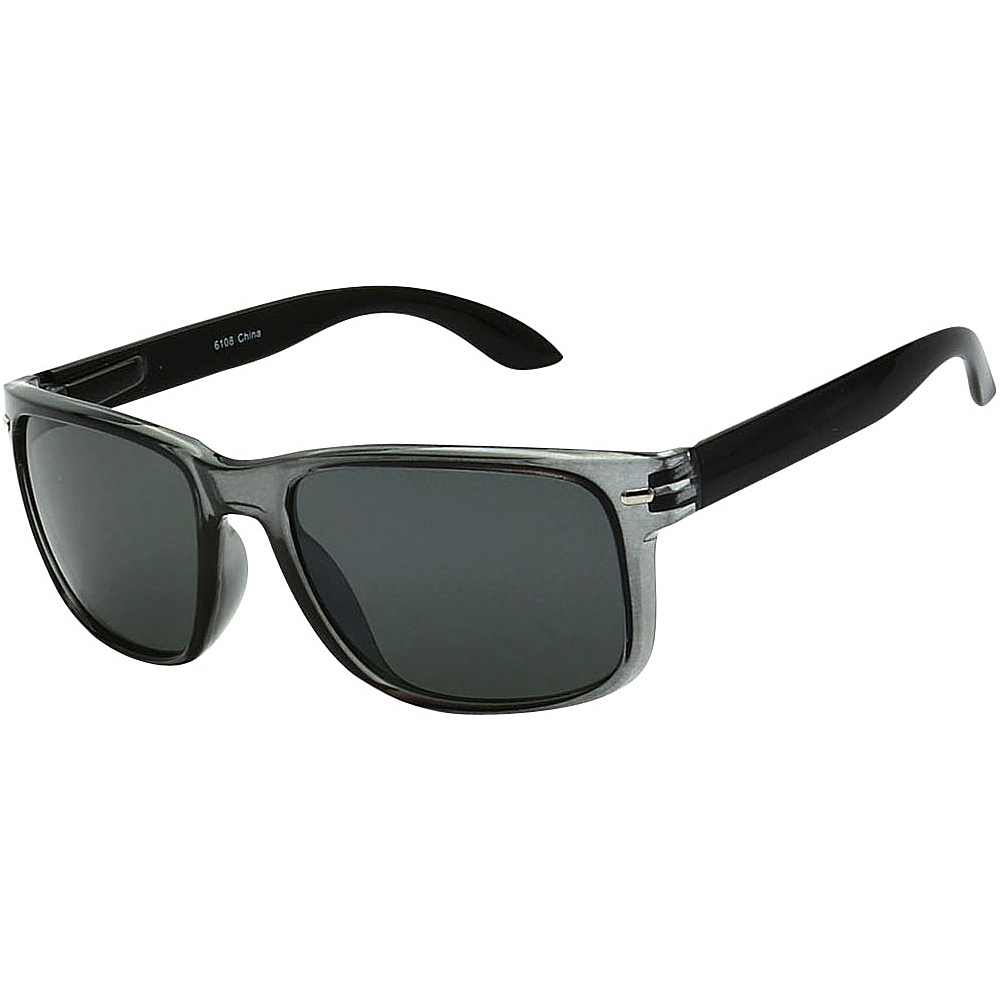 SW Global Sporty Rectangular Frame Sunglasses Grey - SW Global Eyewear - Fashion Accessories, Eyewear