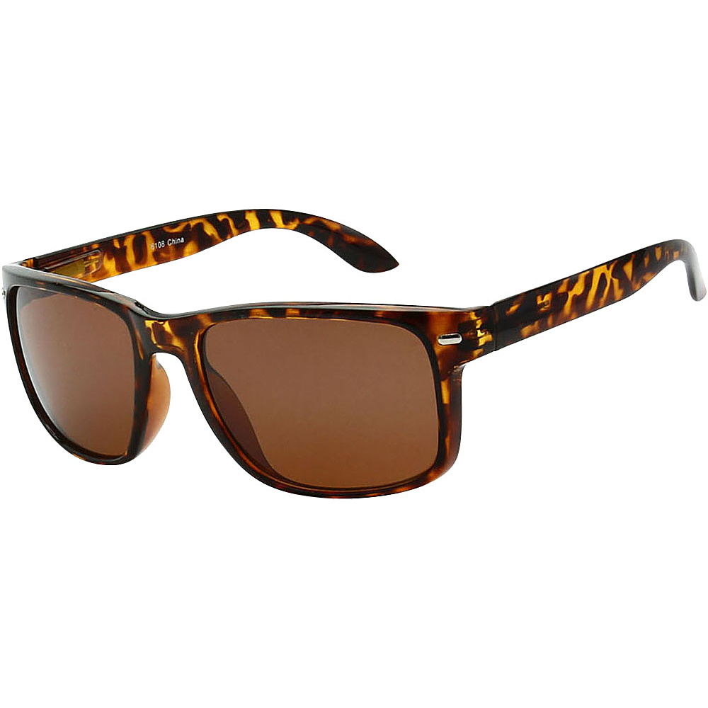 SW Global Sporty Rectangular Frame Sunglasses Brown - SW Global Eyewear - Fashion Accessories, Eyewear