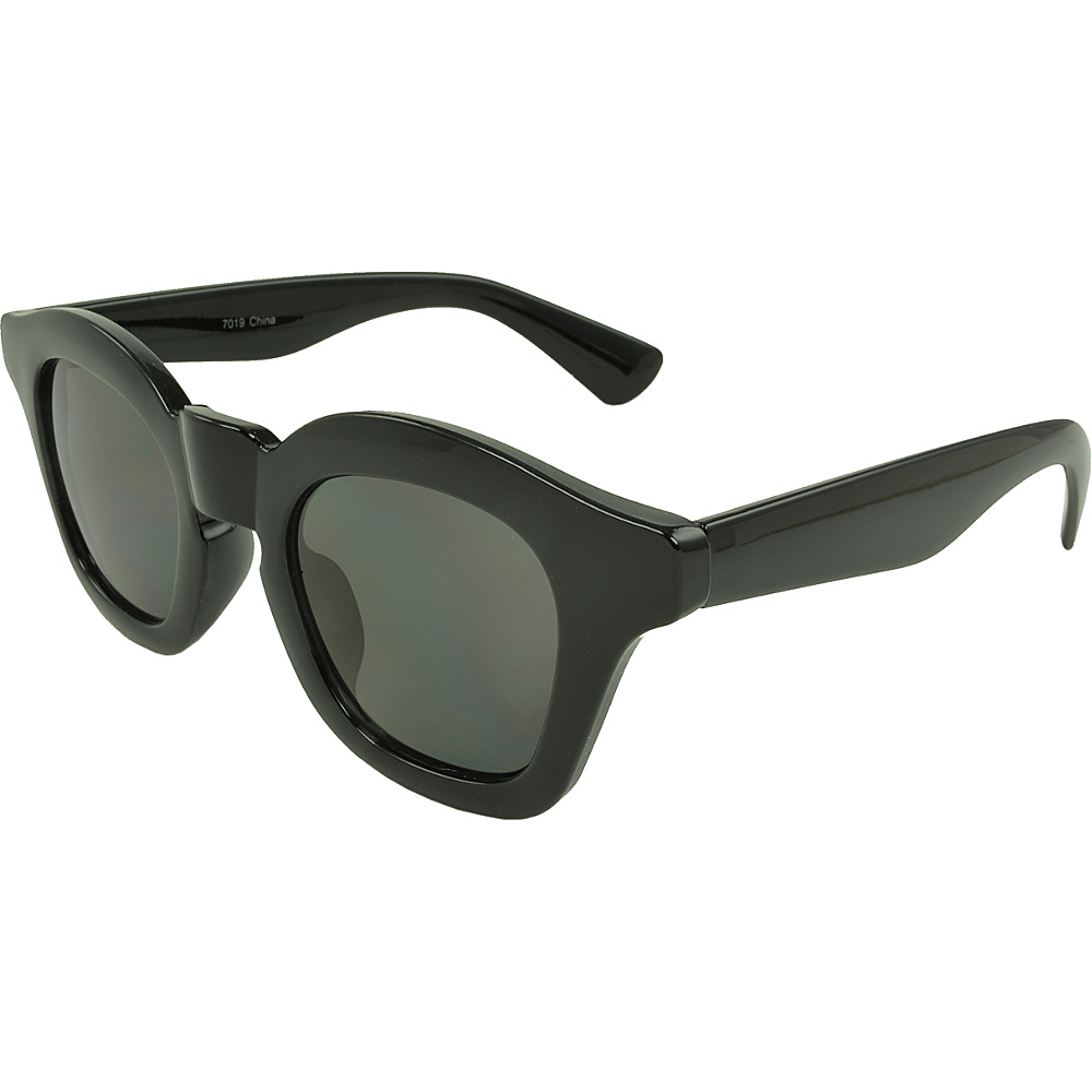 SW Global Barton Retro Square Fashion Sunglasses Black - SW Global Eyewear - Fashion Accessories, Eyewear