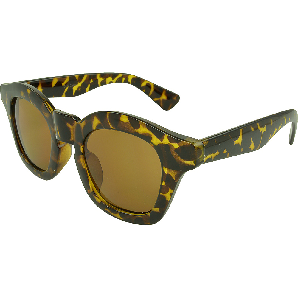 SW Global Barton Retro Square Fashion Sunglasses Leopard - SW Global Eyewear - Fashion Accessories, Eyewear